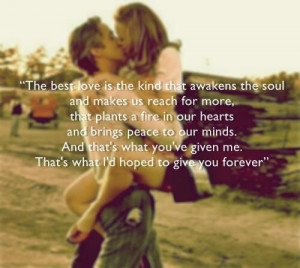... the best kind of love | Notebook Quotes The Best Kind Of Love