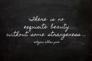 Edgar Allan Poe quote via The Chalk Maven