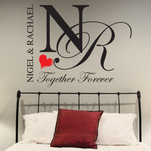 BEDROOM-WALL-STICKERS-PERSONALISED-TOGETHER-FOREVER-DECALS-QUOTES-LOVE ...
