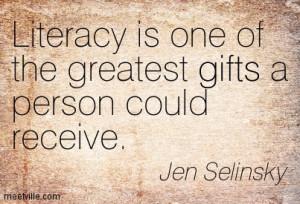 Literacy Quote