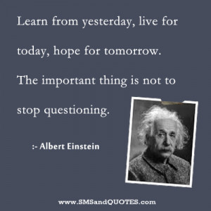 Learn from yesterday, live for today