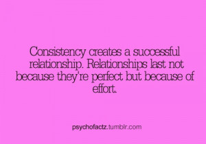 consistency creates a succesful relationship relationships last not ...