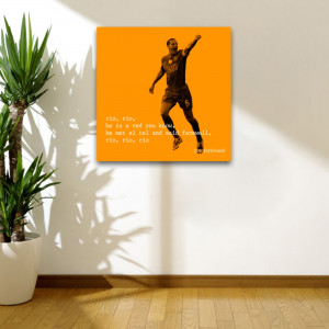 man u rio quote 2 square wall art