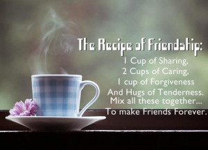 The recipe of friendship
