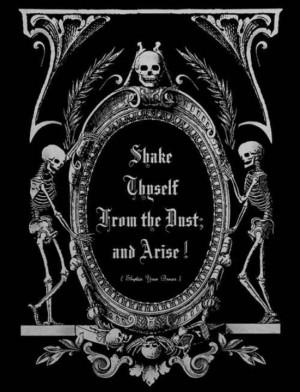 Vintage Halloween Sign: Shake yourself