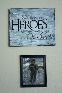 DIY sign with quote. Great quote for war heroes, military veterans ...