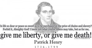 Design #GT183 Patrick Henry - Give me liberty, or give me death