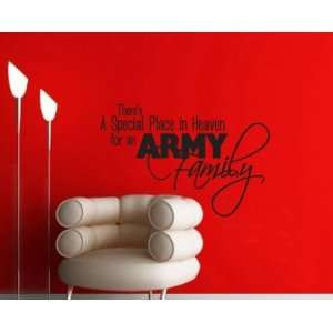 Theres a Special Place in Heaven for an Army Family Patriotic Vinyl
