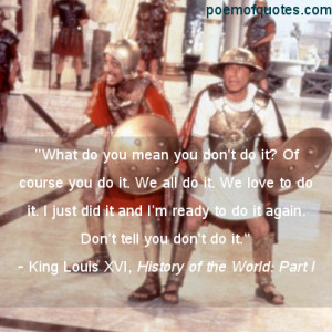 Funny Quotes From History of the World: Part I
