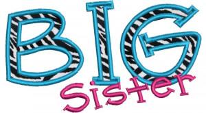 Big Sister Applique Set-3 sizes