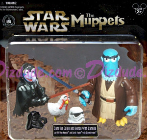 Muppets Sam Eagle, Gonzo & Camilla as Obi-Wan Kenobi, Darth Vader and ...