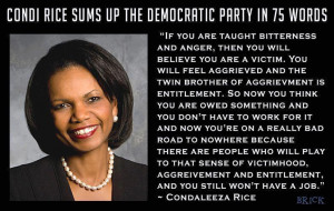 condi rice sums up the democratic party in 75 words Condi Rice Sums Up ...