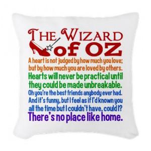 Wizard of Oz Quotes Woven Throw Pillow