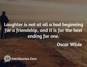 ... bad beginning for a friendship, and it is far the best ending for one