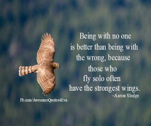... wrong, because those who fly solo often have the strongest wings
