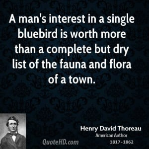 man's interest in a single bluebird is worth more than a complete ...