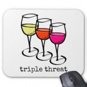 Triple Threat Wine Glasses Mouse Pad