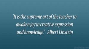 Art Teacher Quotes Albert einstein quote.
