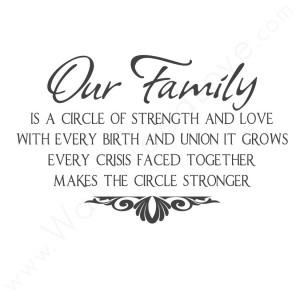 Our family is a circle of strength and love with every birth.