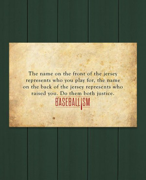 Baseball quote from Baseballism ... This would be more meaningful if ...