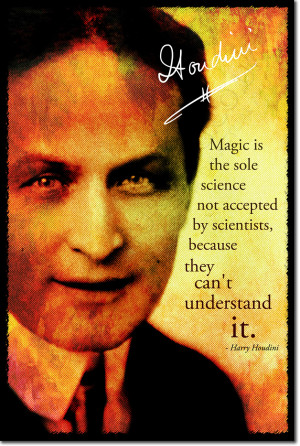 ... HARRY HOUDINI SIGNED ART PHOTO PRINT AUTOGRAPH POSTER GIFT MAGIC QUOTE