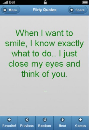 View bigger - Cute Flirty Quotes - FREE for Android screenshot