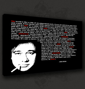 BILL-HICKS-ICONIC-QUOTE-MUSIC-CANVAS-PRINT-POP-ART-POSTER-MANY-SIZES ...