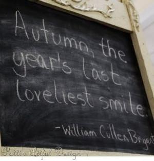 Autumn | William Cullen Bryant