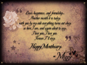 GroupCard: Sweet Monthsary Quotes ecards, happy, hope, birthday online ...