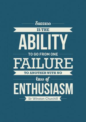 Winston Churchill British Politician Typography Quote Digital Art