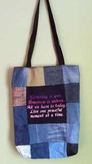 tote bag with Al-Anon quote