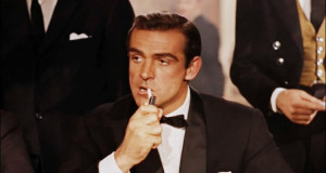 Photo of Sean Connery, portraying James Bond in