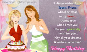 ... for a Special Friend Who'd be close to my heart ~ Birthday Quote