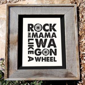 ... Wagon Wheel Art Print - Cream- 8x10
