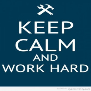 Keep Calm Work Quotes
