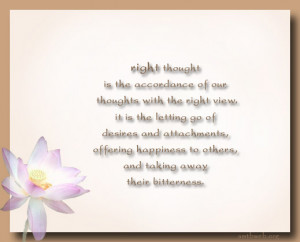 Buddhist Quotes & Sayings: The Noble Eightfold Path