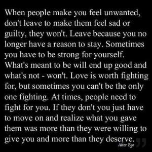 feel unwanted