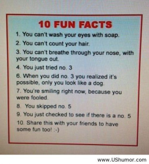 10 funny facts US Humor - Funny pictures, Quotes, Pics, Photos, Images