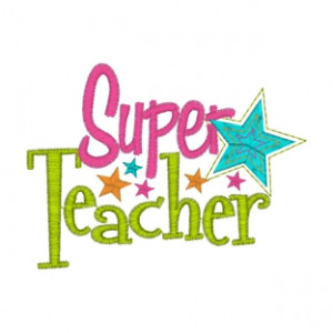 Sayings (3320) Super Star Teacher 4x4 £1.70p