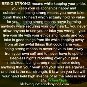 Being Strong Means.