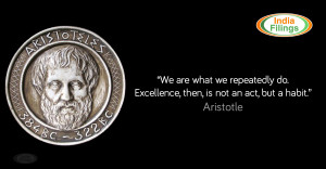 You are at: Home » Business Tips » Aristotle's Quote on Excellence