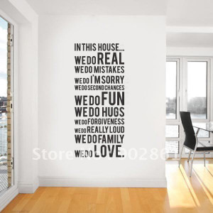 ... Wall Sticker We Do Living room Wall Quote Saying Decals 55x120cm