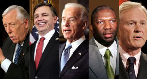 Steny Hoyer, Bobby Schilling, Joe Biden, Alvin Greene and Chris ...