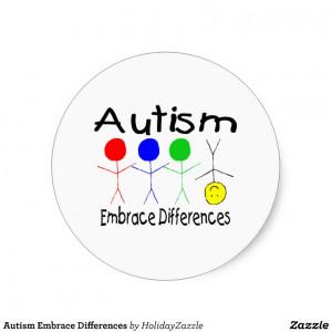 Autism Embrace Differences Sticker