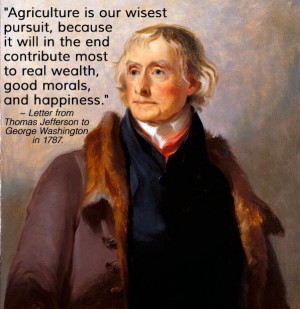 ... and happiness. Letter from Thomas Jefferson to George Washington 1787