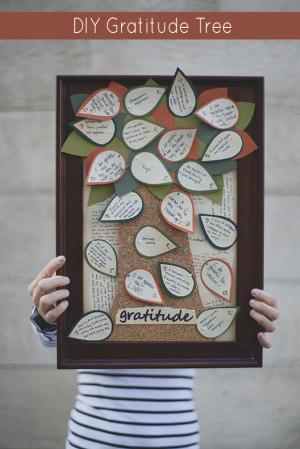 DIY Gratitude Tree Craft for Thanksgiving