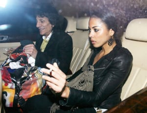 Ronnie Wood and girlfriend Ana Araujo leave the Dorchester Hotel in ...