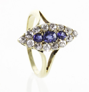 Home Pre-Owned Blue Sapphire Ring