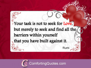 Inspirational Quotes About Learning to Love Yourself by Rumi