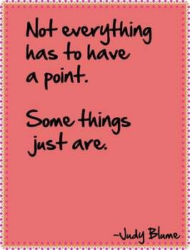 Judy Blume quote sheets - free!